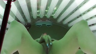 Self Fingering in Solarium Room