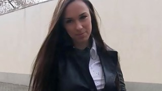 Czech slut pounded by nasty stranger guy for some money