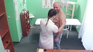 Kinky nurse bangs big cock in fake hospital