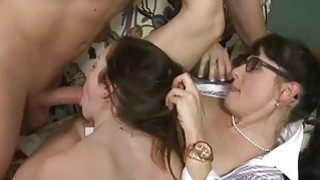 Victoria Volt and Alexandra Silk FFM 3some sex