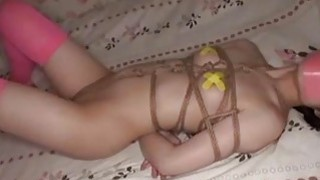 Jav Teen Debutante Rope Bound Teases With Her Spread Labia Extremely Cute