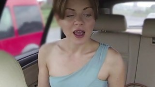 Amateur babe asks for big cock in fake taxi