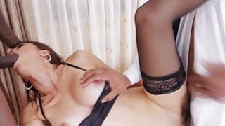 White house wife Eva Long double banged by black cocks