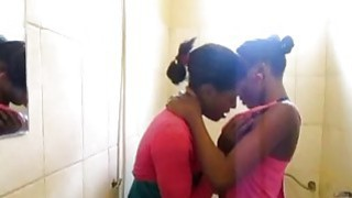 Sexy African lesbians fucking in the bathroom