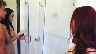 Bathtub threesome with the hot stepmom Monique Alexander