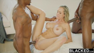 Naughty MILF fucks her daughter's black friends