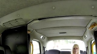 Lesbian wrestler licked in fake taxi