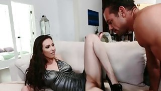 Casey Calvert dripping wet while indulging her foot fetish