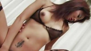 Perfect body Asian slut getting her wet coochie ha