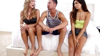 Brandi Love And Ava Taylor Are Having Hot Threesome With Ava's Boyfriend