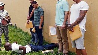 Black military guys having hardcore anal fun