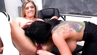 Giselle lesbian punishment with sexy prof