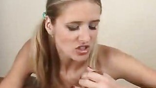 Concupiscent wench performs cocksucking