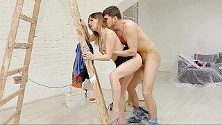 Ladders and lusty sluts