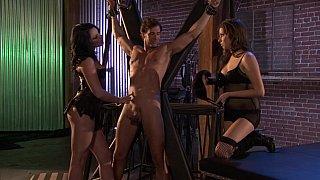Sex dungeon threesome