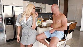 Servicing her employer