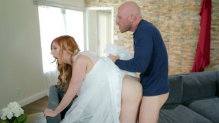 Lauren Phillips gets banged standing by Johnny Sins