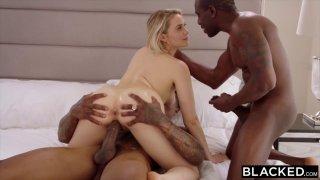 Horny slut Mia Malkova gets double teamed by black hunks