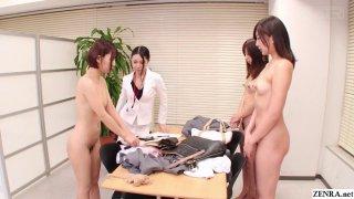 Bizarre CMNF JAV nudist saleswomen Subtitles