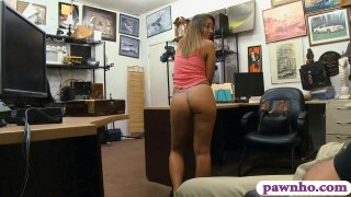 Sweet amateur screwed by horny pawn man