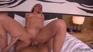 Amateur MILF ass and pussy fucked super hard in POV