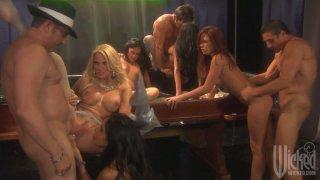 Pussy jackpot with Jessica Drake, Kaylani Lei, Kirsten Price, Alektra Blue and Mikayla Mendez