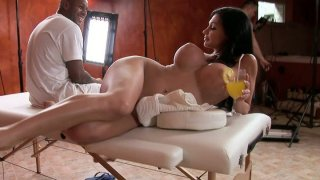 Aletta Ocean fools around during the break between the video scenes