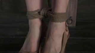 Bondage brunette slave girl and her mistress 2
