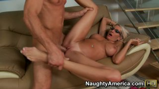 Passionate Emma Starr starring in a hot porn video and getting thrusted hard