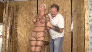 Hogtied And Suspended Live