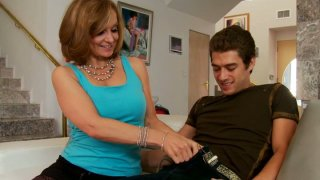 Handsome young guy will always get fellatio from Rebecca Bardoux