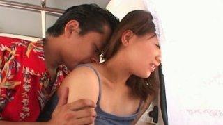 Cute and filthy Japanese teen Mai Mariya fucking in the car