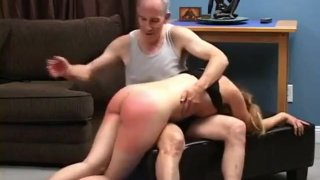 Teen spanked, fingered and pussy spanked