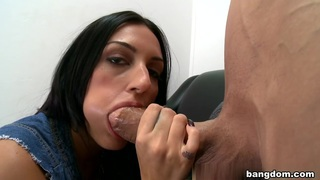 Amber Cox in Newbie comes in to show her skills with...