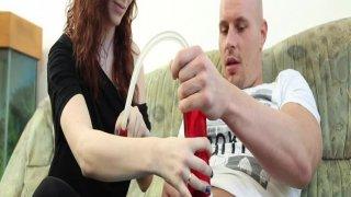 Amateur couple tries new toys