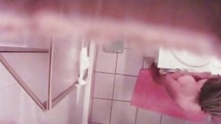 soaping mother spied in the bathroom
