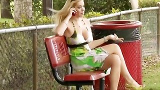 Titanic tits on milky white blonde milf kylie knight