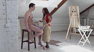 Hung model fucks the artist