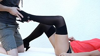 Cute teen Bianca in sexy lingerie gets licked and fucked