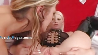 two sexy blonde fucking hard ass